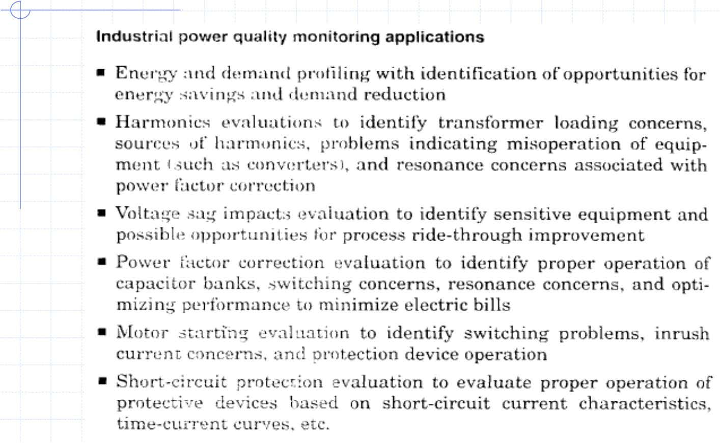 Industrial PQ Monitoring Applications