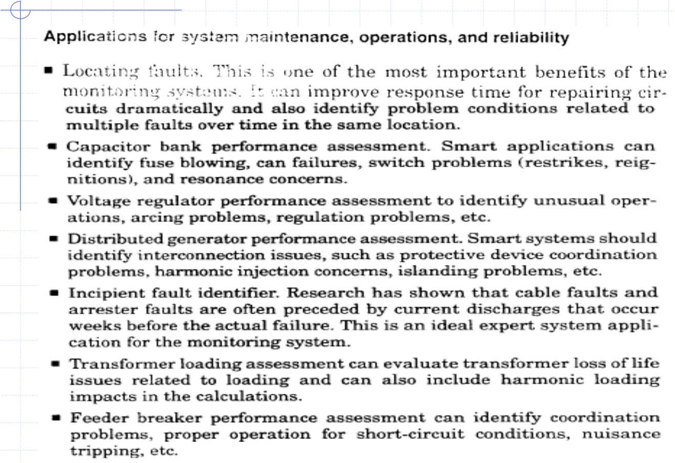 Application for System Main. Optn. and reliability