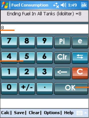Input Box and tap on any number pad item to enter the data Input Box where