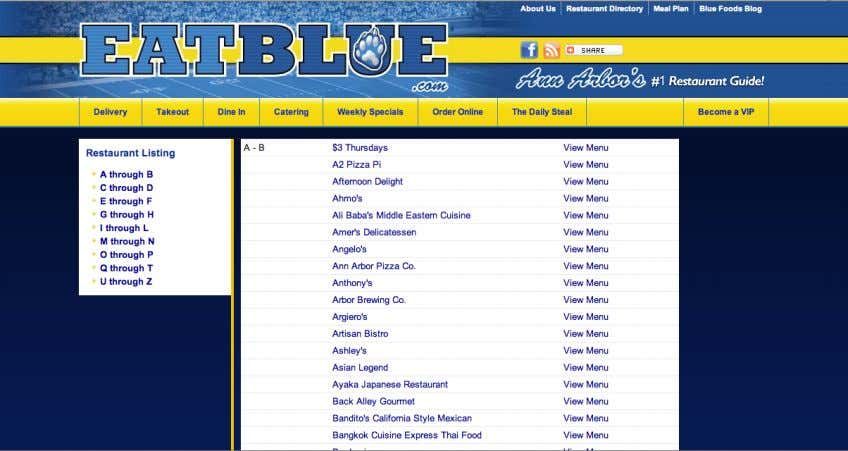 14 Image C: Current EatBlue: Restaurant Directory