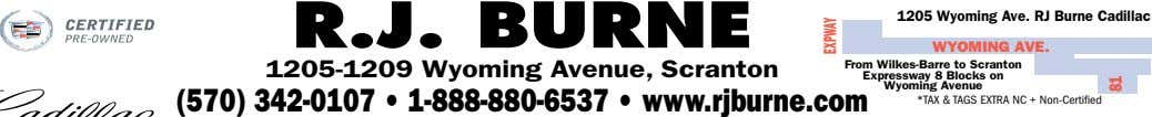 R.J. BURNE 1205 Wyoming Ave. RJ Burne Cadillac WYOMING AVE. 1205-1209 Wyoming Avenue, Scranton From