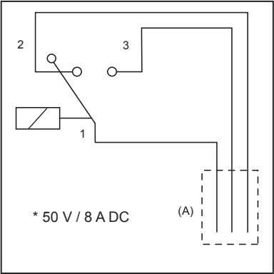 "contact"" MUST NOT be operated on two different circuits. 2 3 1 (A) * 50 V"