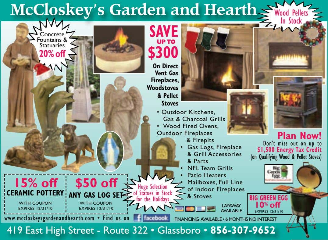 McCloskey's Garden and Hearth Wood Pellets In Stock SAVE Concrete Fountains & UP TO Statuaries 20%