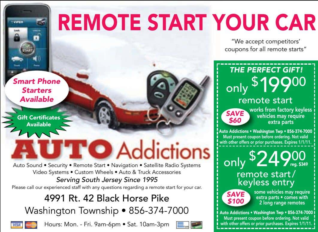 Auto Sound • Security • Remote Start • Navigation • Satellite Radio Systems Video Systems •