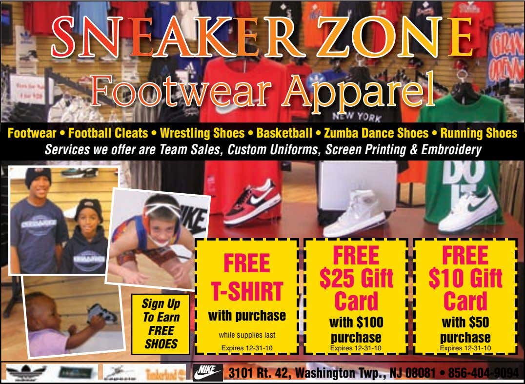Footwear Apparel Footwear Apparel Footwear • Football Cleats • Wrestling Shoes • Basketball • Zumba Dance