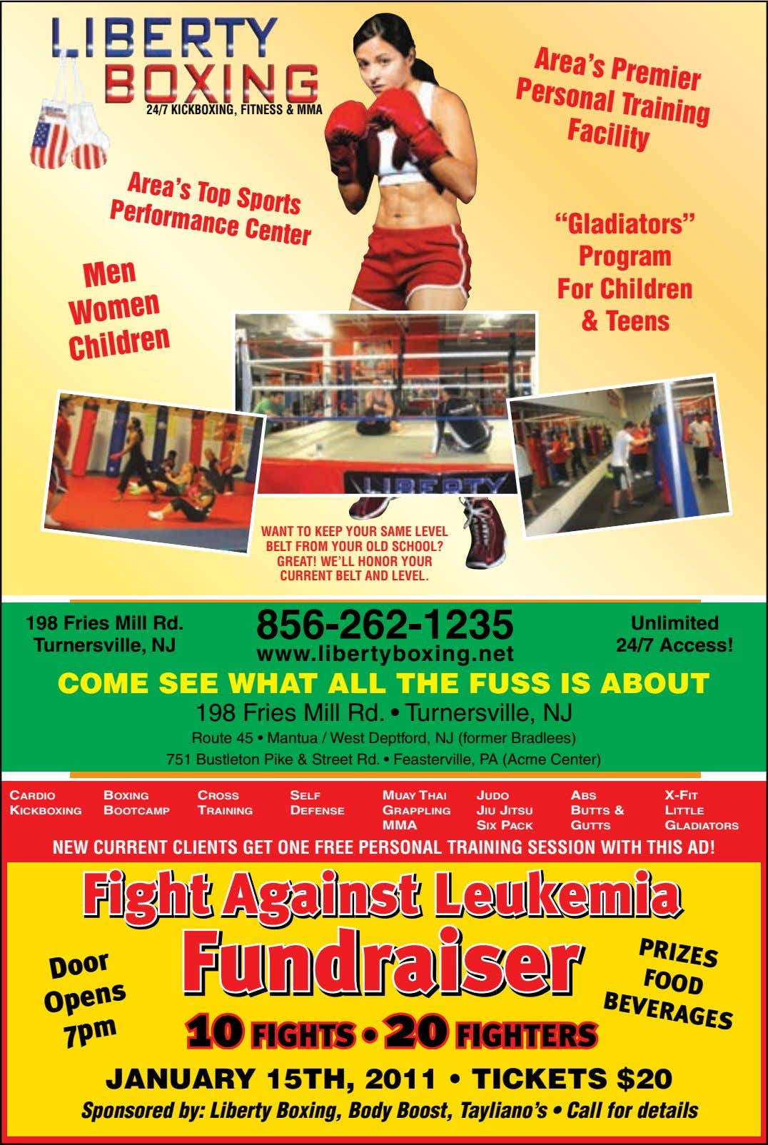 Area's Premier Personal Training Facility 24/7 KICKBOXING, FITNESS & MMA Area's Top Sports Performance Center Men