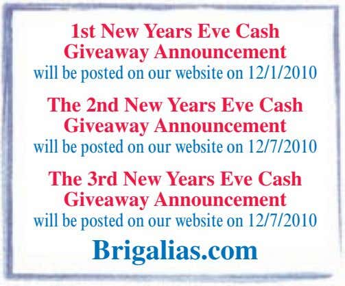 The 2nd New Years Eve Cash Giveaway Announcement The 3rd New Years Eve Cash Giveaway Announcement