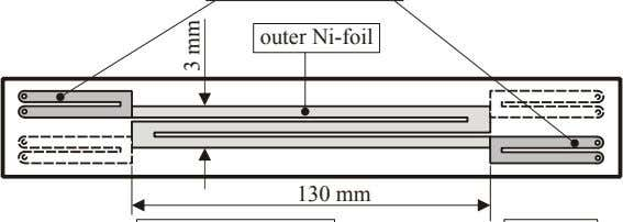 outer Ni-foil 130 mm 3 mm