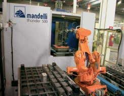 to be dismantled and installation takes 16 hours. [ 3 ] Robotised workpiece feeding system application