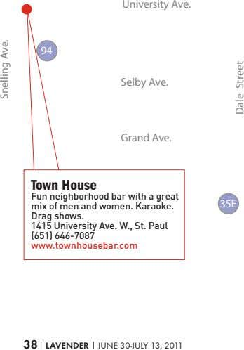 University Ave. 94 Selby Ave. Grand Ave. town house Fun neighborhood bar with a great mix