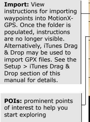 ! Import: View instructions for importing waypoints into MotionX- GPS. Once the folder is populated,