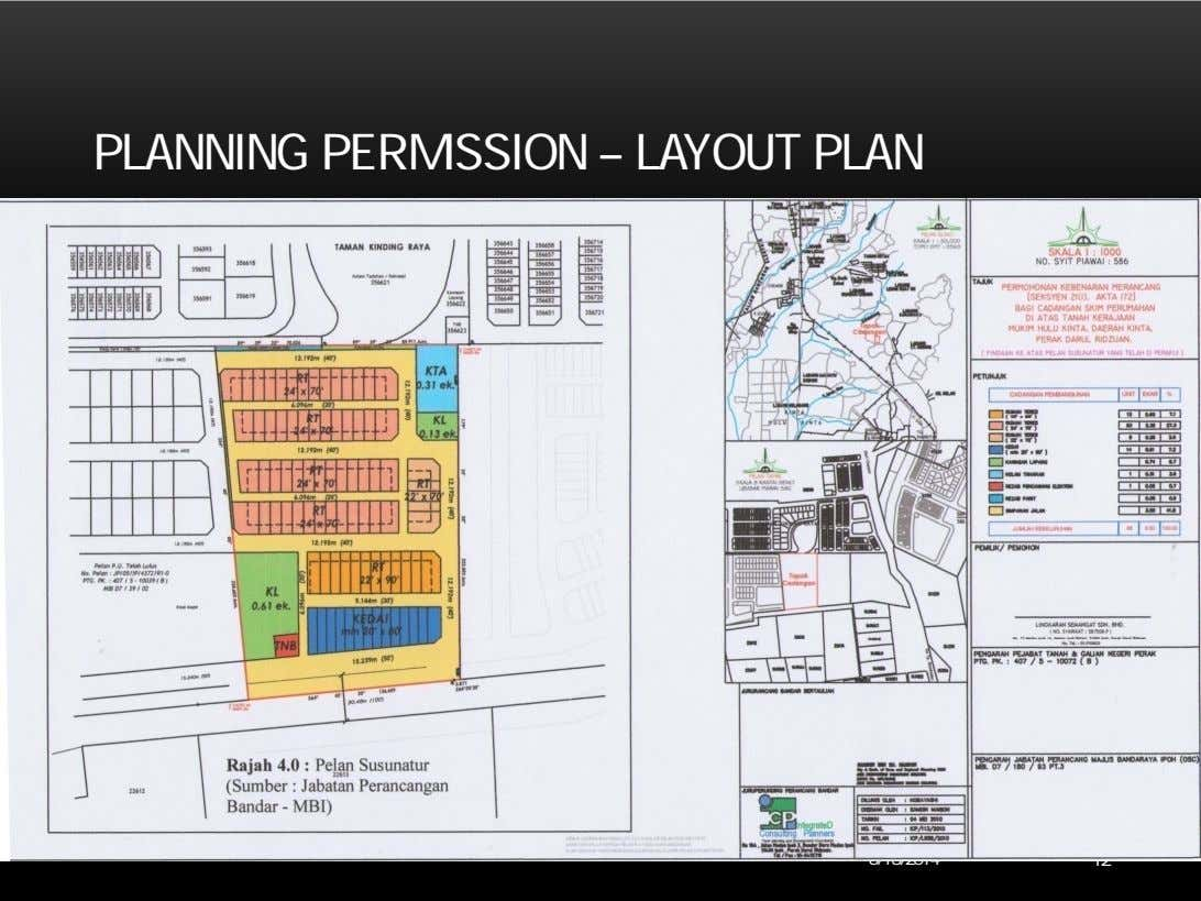 PLANNING PERMISSION – LAYOUT PLAN 6/18/2014 12