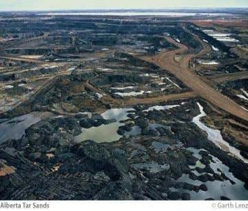 Environment impacts of looking for more energy Tar Sands in Canada This place contains up to