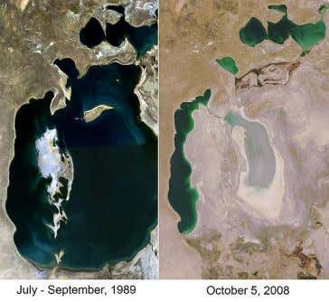 Aral Sea case study – role of different key players here and impacts Location: north-western part