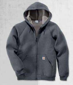 SWEATSHIRTS Page 52 Car-Lux Midweight Hooded Zip Front Sweatshirt 100465 Car-Lux midweight 10.5-ounce / 324 gram,