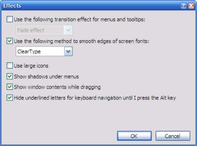 and confirm that CLEARTYPE has been specified and selected. Figure 2-2: Setting Clear Type Effect 2.1.3