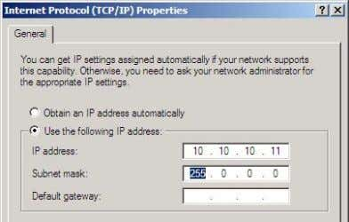 IP address that you allocated to the access point.) Tap OK. Figure 3-16: Setting a Fixed