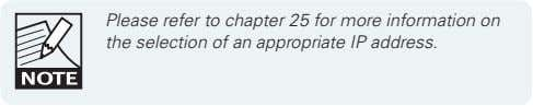 Please refer to chapter 25 for more information on the selection of an appropriate IP