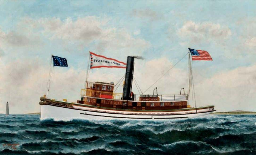 "411 408. American School, 19th Century An American Ship Leaving Coastal Waters. Signed ""R. Stone"" l.r."