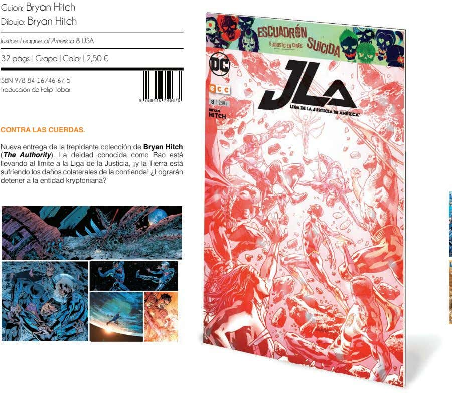 Guion: Bryan Hitch Dibujo: Bryan Hitch Justice League of America 8 USA 32 págs. |