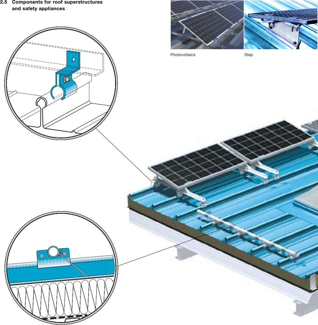 2.5 Components for roof superstructures and safety appliances Photovoltaics Step
