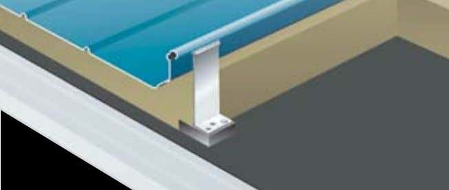 or wooden substructure by means of approved fasteners. Kalzip ® aluminium clip The system and its