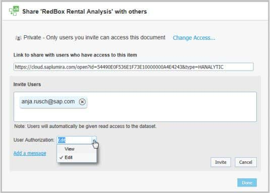signing into SAP Lumira Cloud Dataset sharing stopped © 2014 SAP SE or an SAP affiliate