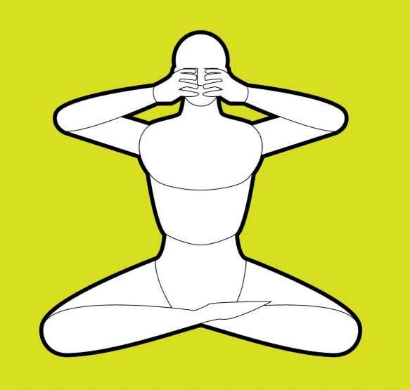 Figure 5. Yoni Mudra After Yoni Mudra, remain concentrated as long as possible at the