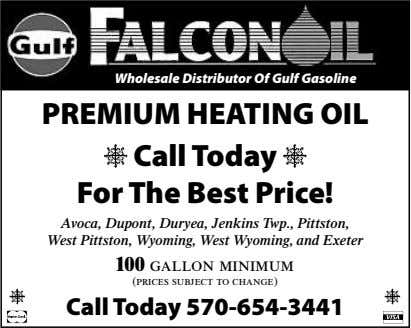 Wholesale Distributor Of Gulf Gasoline PREMIUM HEATING OIL Call Today For The Best Price! Av