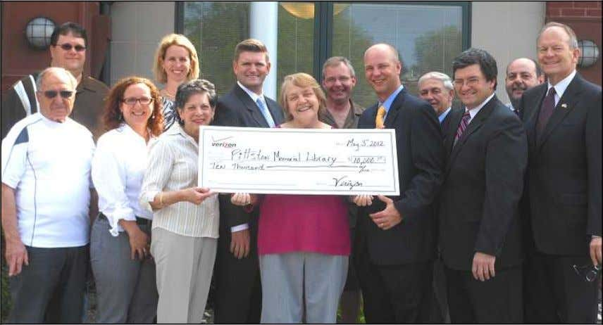 instr umen- tal in obtaining the funding for the librar y. Pictured as Pittston Library accepted
