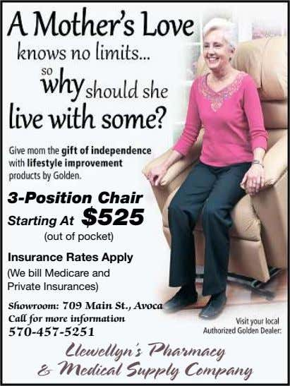 3-Position Chair Starting At $525 (out of pocket) Insurance Rates Apply (We bill Medicare and