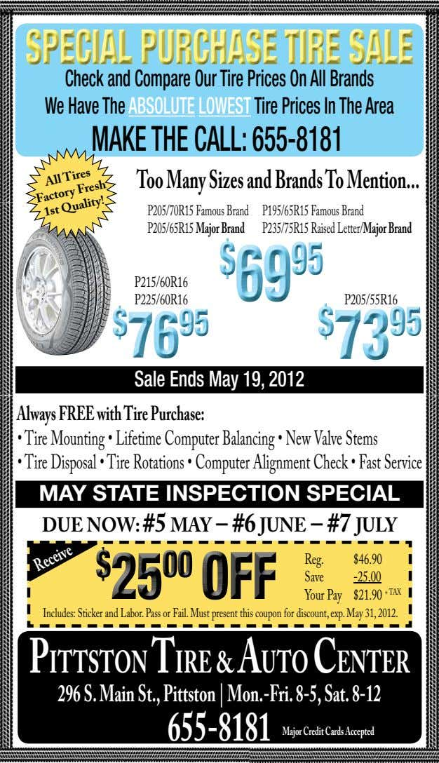 Check and Compare Our Tire Prices On All Brands We Have The ABSOLUTE LOWEST Tire