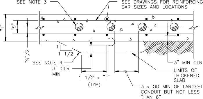 SEE NOTE 3 SEE DRAWINGS FOR REINFORCING BAR SIZES AND LOCATIONS 1 1 1/2 SEE