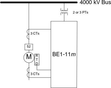 4000 kV Bus 2 or 3 PTs 3 CTs 52 BE1-11m M R T D