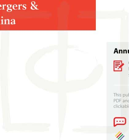 Topic Understanding Mergers & Acquisitions in China Annual Subscription China Briefing Magazine is published
