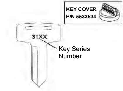 KEY COVER P/N 5533534 Key Series Number