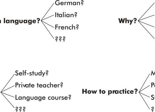 German? Italian? Why? French? ??? Self-study? Private teacher? Language course? ??? How to practice?
