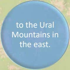 to the Ural Mountains in the east.