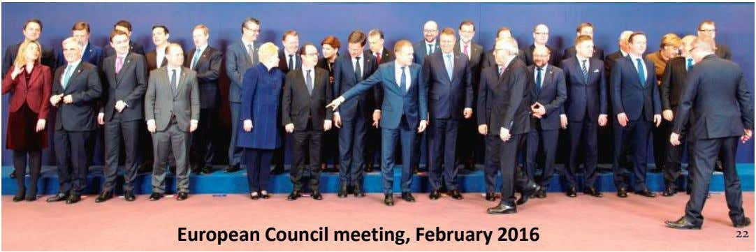 European Council meeting, February 2016 22