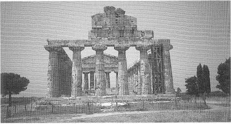 of the 32 1 The Basilica, Paestum. Photo: the author. 2 The Temple of Ceres, Paestum.