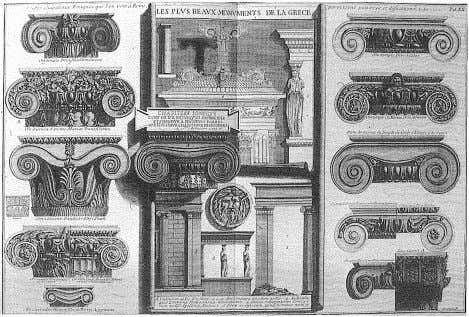 PIRANESI'S ARCHAEOLOGICAL ILLUSTRATIONS 13 G.B. Piranesi, Various Roman Ionic Capitals compared with the Greek example