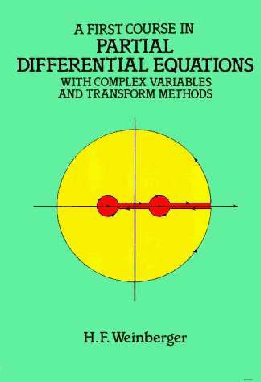 ECUACIONES DIFERENCIALES PARCIALES - WEINBERGER 1-dcd22a0648