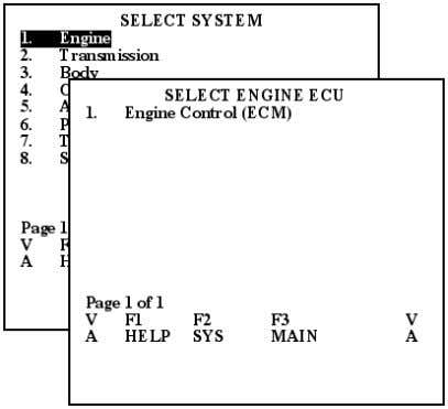 Select the System Test. In this example, Engine is selected. Figure 2.18: Select Engine The Select