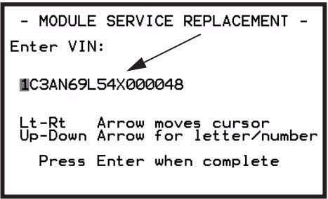 or TechCONNECT 8 Enter the VIN, press ENTER to continue. Figure 3.32: Manual Entry Screen, VIN