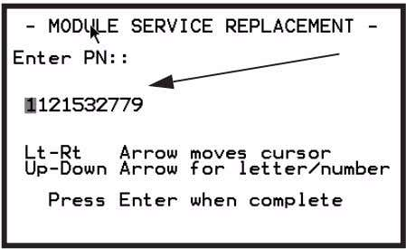 9 Enter the Coding String (PN), press ENTER to continue. Figure 3.33: Manual Entry Screen, PN