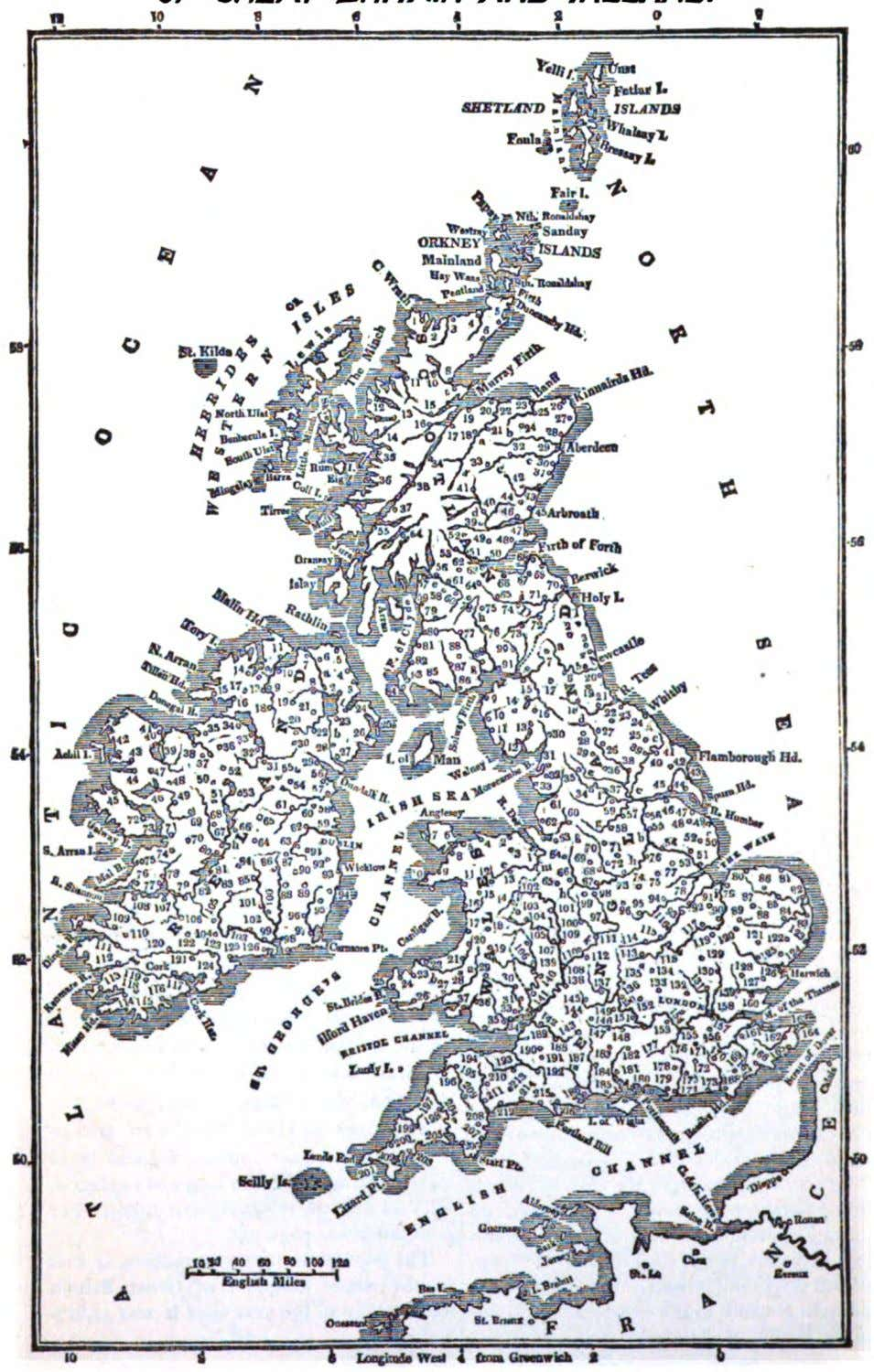 MAP Or THE U/V/7TD WWDOM OF GREATBft/TAMAND /RELAND.