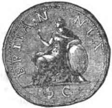 fLATE Nil. V. Htm of Brlianaia on a Eomon Cota, from 0 Cnppel Coin of Affl.JBiuua