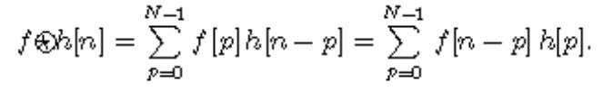 Fast Fourier Transform The discrete Fourier transform of a circular convolution is the product of the