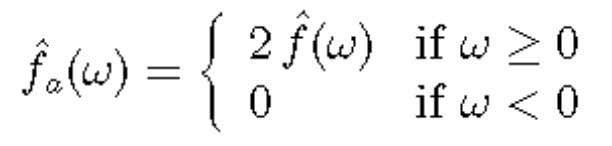 a of a real signal f is given by its Fourier transform: and f a can