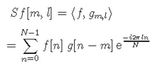windowed Fourier transform of an N periodic signal is For a fixed m, the formula is